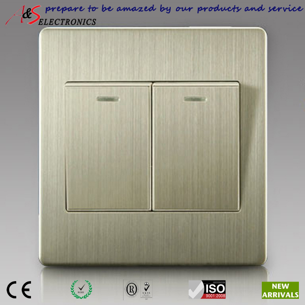 Wall Light Switches Us : Home-Decorative-Classy-Brushed-Stainless-Steel-Twin-Gang-Two-Way-Wall-Light-Switch-for-Europe ...