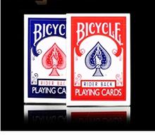 Cartas originales versión vieja bicicleta trucos de magia apoyos mágicos de color rojo