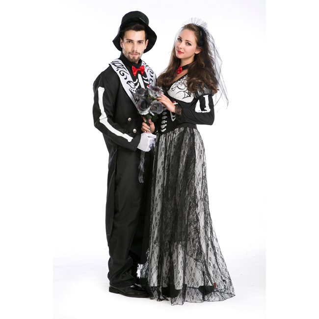 2014 unique cosplay design man and woman halloween couple costumes(China (Mainland))