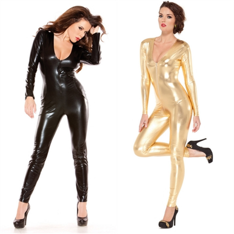 Free Shipping multi code golden Siamese tight motorcycle jacket leather clothing leather paint paragraph nightclub DS costume(China (Mainland))