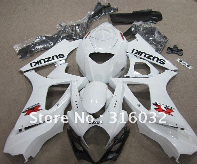 Pearl White fairing for SUZUKI GSX-R1000 07 08 K7 Bodywork covers including  windscreen