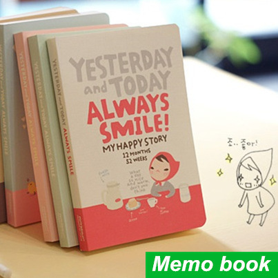 Cute Notebook Red hat girl Agenda week plan Diary Day planner journal record stationery office School supplies 6451(China (Mainland))