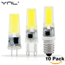 Buy 10PCS/Lot YNL 2W 3W LED G4 Lamp Bulb E14 AC/DC 12V 220V Dimmer COB LED G9 Lighting Lights replace Halogen Spotlight Chandelier for $8.56 in AliExpress store