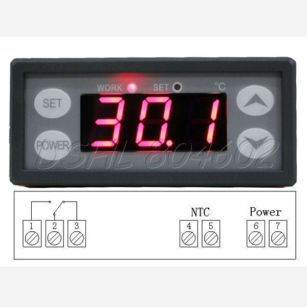 220V Digital LCD Thermostat Temperature Regulator Controller Aquarium Fish Tank