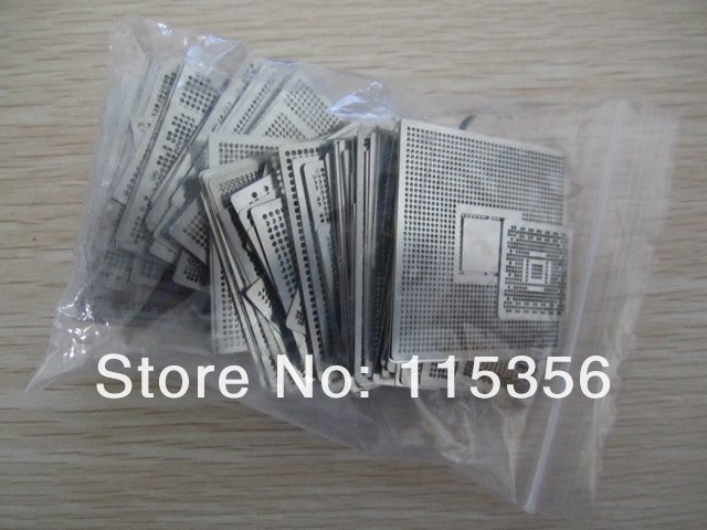 free shipping completely set 27pcs/lot universal bga reball stencils heat directly bga soldering Tin template