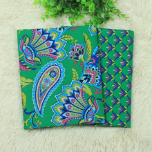 150*50cm Printed VB Cotton Fabric Cloth DIY Handmade Bag Pillow Bedding AB Version Patchwork Green Flower Textile - Amy Store store