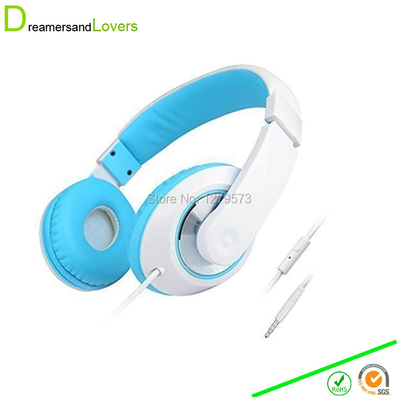 Dreamersandlovers font b Headphone b font with Microphone for Travel Work Running Sport font b Kids