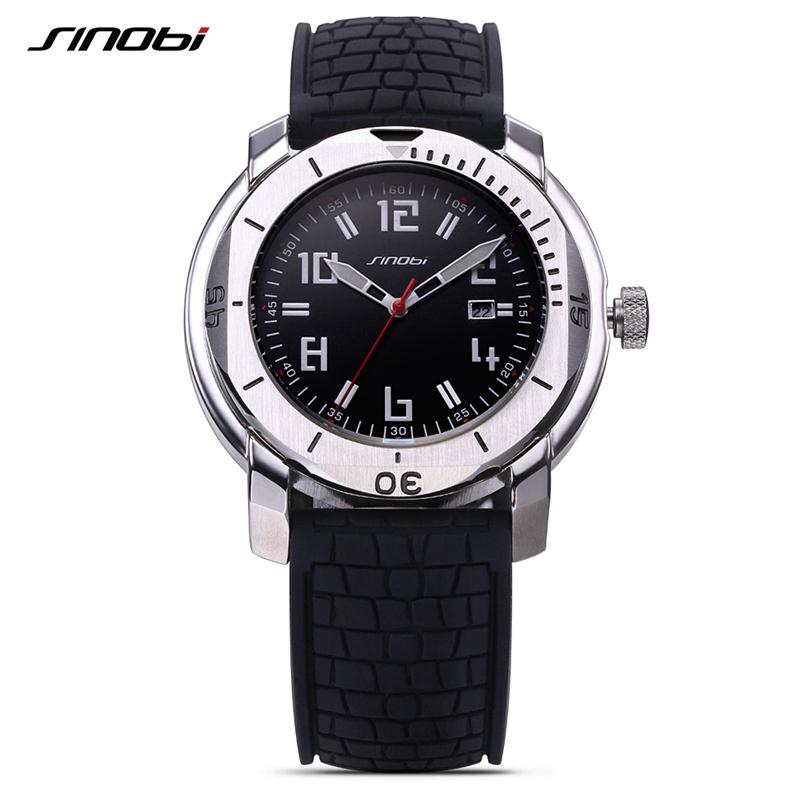 SINOBI Surfing Clock 3Bar Waterproof Watch Mens Sports Wristwatch Designer Branded Chronograph Male Spy Geneva Quartz-watch 007(China (Mainland))