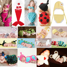 Newborn Boy Girl Baby Crochet Knit Costume Photo Photography Prop Outfit As Gift(China (Mainland))