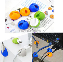 6pcs Smart Wire Cable Clips Sticker Bobbin Line Cord Winders Holder for iphone 5s 6 6s Samsung S6 charger network Mouse Keyboard(China (Mainland))