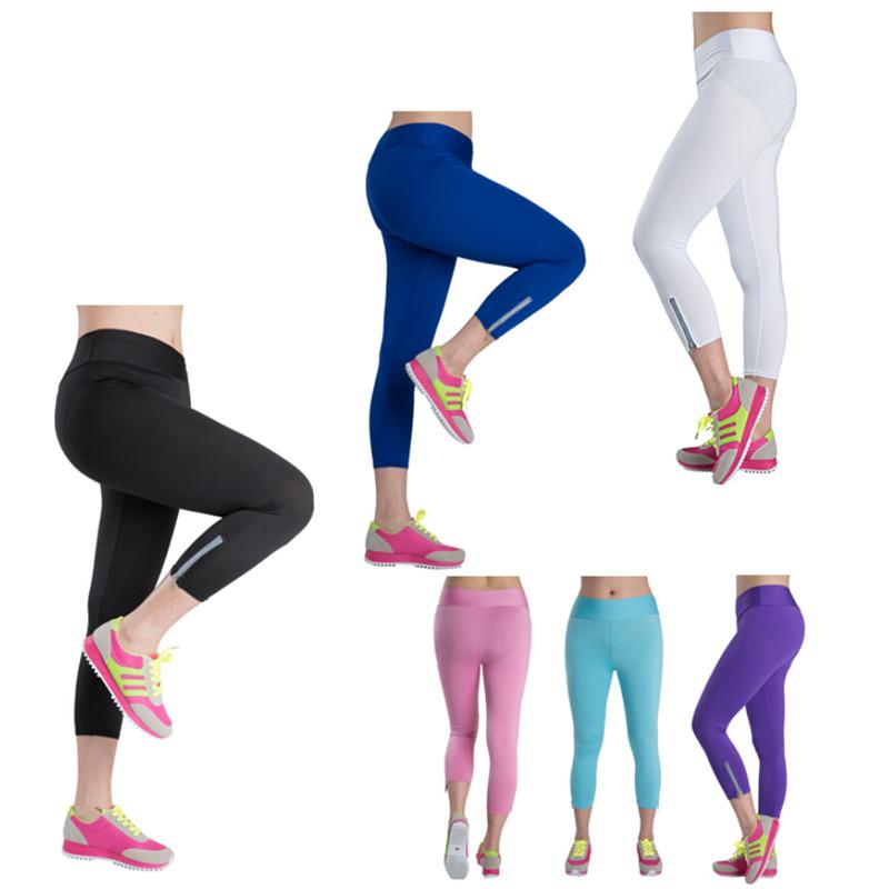 Plus Size Women Capris Pants High Waist Elastic Zipper Skinny Leggings Candy Color Neon Legging DD8002(China (Mainland))