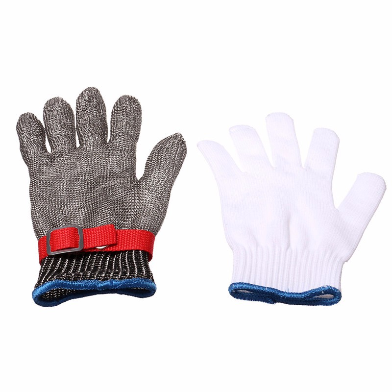 Durable Quality Safety Cut Proof Stab Resistant Stainless Steel Metal Mesh Butcher Glove Health And Safety Easy To Clean(China (Mainland))