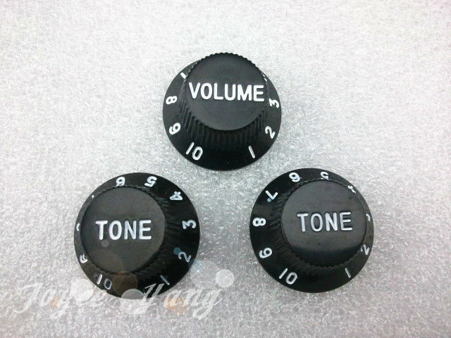 New Black 1 Volume&amp;2 Tone/set Electric Guitar Control Knobs For Fender Strat Style Guitar Free Shipping<br><br>Aliexpress