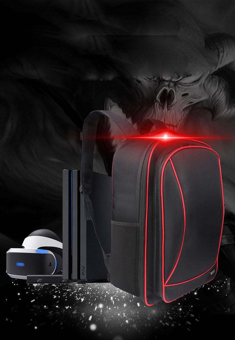ถูก สำหรับsony vr + ps4เครื่องเล่นวิดีโอเกมเกมกรณีกันน้ำดิจิตอลปกป้องถุงเก็บมัลติฟังก์ชั่ท่องเที่ยวc arryไหล่กระเป๋า