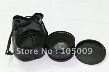 0.45x 58mm Wide Angle with Macro Conversion LENS for canon 60d 600d 550d 500d black