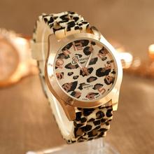 2015 Hot!Fashion Women Watches Leopard Print Silicone Watch Jelly Analog Girl Wristwatch Geneva Dress Reloj Drop Shipping CY0722(China (Mainland))