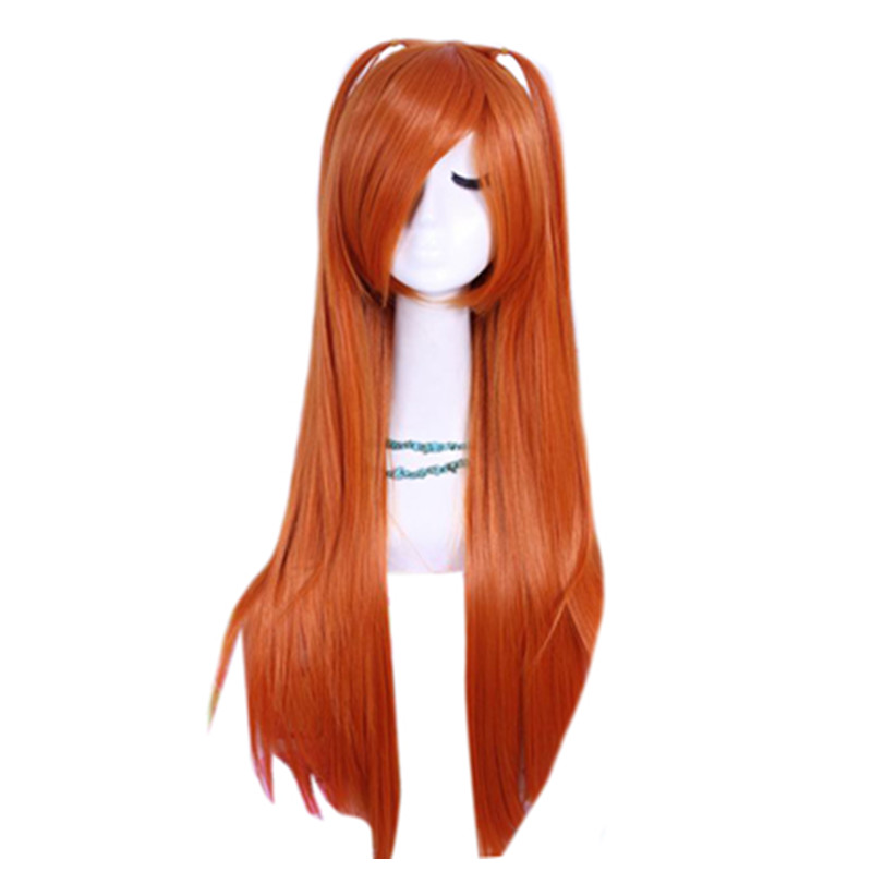 Free Shipping Arrival 68cm Long Orange Asuka Straight Cosplay Wig ML64<br><br>Aliexpress