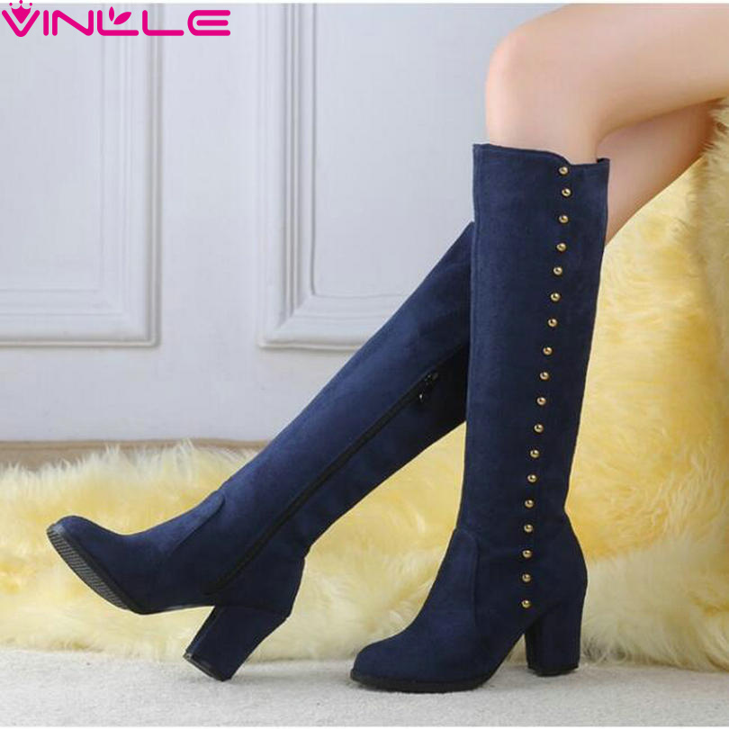 VINLLE 2015 Fashion Arrival Winter Boots For Women Knee High Boots