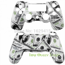 Custom $100 Cash Money Replacement Housing Shell Kits for Sony Play station 4 Controller wireless hd top and back shells