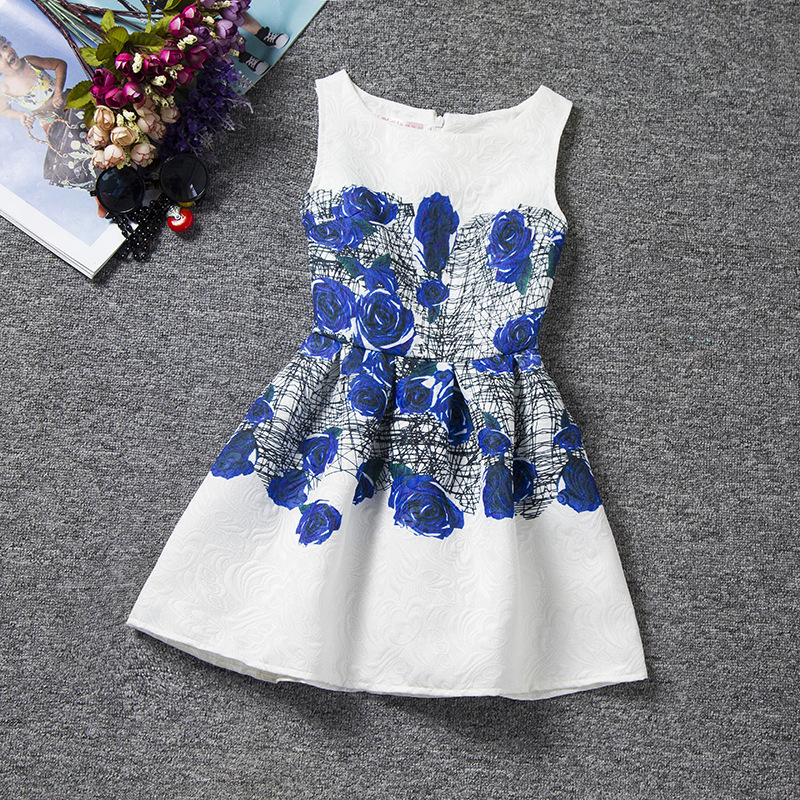 New baby Girl Dress 2016 Summer Party Sleeveless Girls Tutu Dress Princess Vintage Toddler Flower Clothes Vestido(China (Mainland))