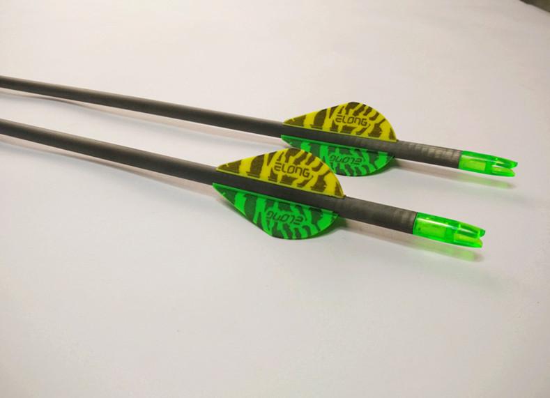 "Здесь продается  12PCS 30"" SP400 Pure Carbon Arrow With 2"" HP ELONG Blazer&Points For Hunting&Shooting Bow+Free Shipping  Спорт и развлечения"