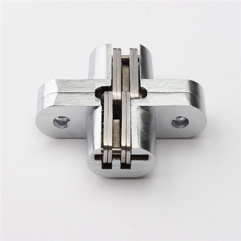Best Price 304 Stainless Steel Hidden Hinges 13x45MM Invisible Concealed Door Hinge Bearing 20KG With Screw For Folding Door(China (Mainland))