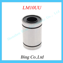 2pcs LM10UU 10mm Linear Bushing CNC 10mm linear ball bearing  Free shipping