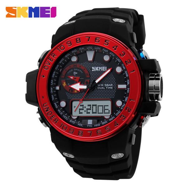 Men Sports Watches Luxury Brand Outdoor Waterproof Fashion Casual Quartz Watch Digit Military Oversized Men's Watch Reloj Hombre(China (Mainland))