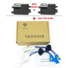 Buy Taochis HID Xenon Conversion Bulbs & 2pcs 75W Ballast kit Car Headlight H1 H3 H7 H11 9005 9006 880 881 H8 H9 Bright for $41.85 in AliExpress store