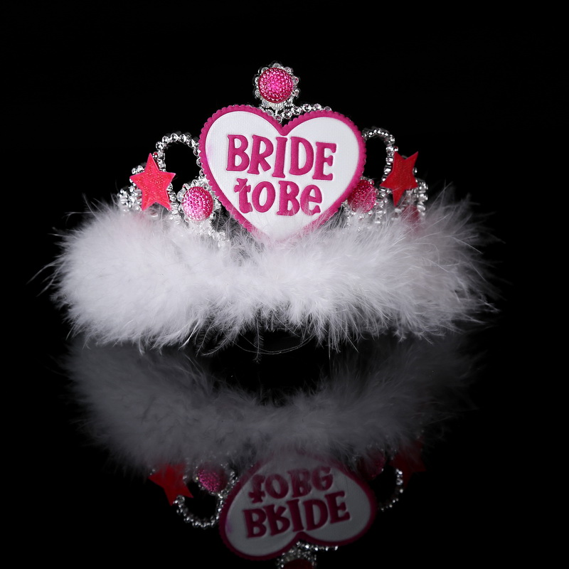 6pcs wedding decoration tiara Bachelorette party bride to be accessories Hens night wedding favor event party supplies for girls(China (Mainland))
