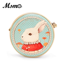 Buy Alice Wonderland Mr. Bunny Round Shoulder Bag Cute Dream Bunny Purse Vintage Animal Printed Design Fashion Lolita Style Bag for $19.37 in AliExpress store