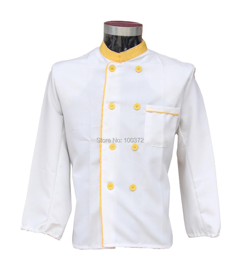 chef uniform 2015 spring men chef shirt double button cook clothes ropa cocinera restaurant jacket hotel cooks uniforms(China (Mainland))