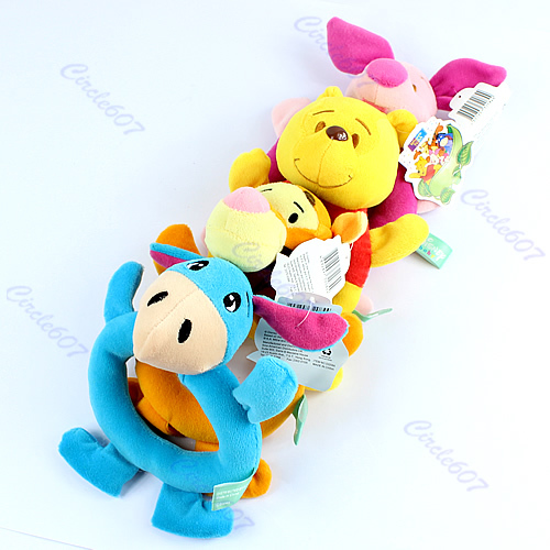 F85 Free Shipping Baby Animal Model Catoon Hand Bell Ring Rattles Kid Plush Soft Toys(China (Mainland))
