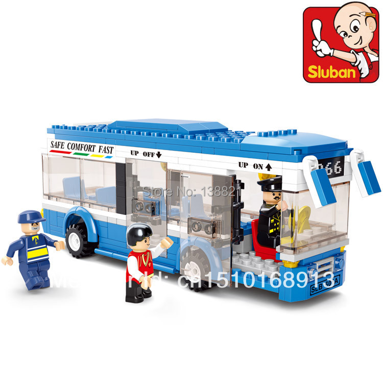 original box Educational Toys children Sluban Building Blocks small bus self-locking bricks Compatible Lego - zhichao shaw's store