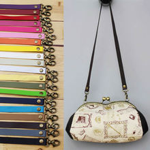 63cm 20pcs/lot pu leather straps with buckles bag handles accessories for handbags bag belt hanger belts Drop shipping(China (Mainland))