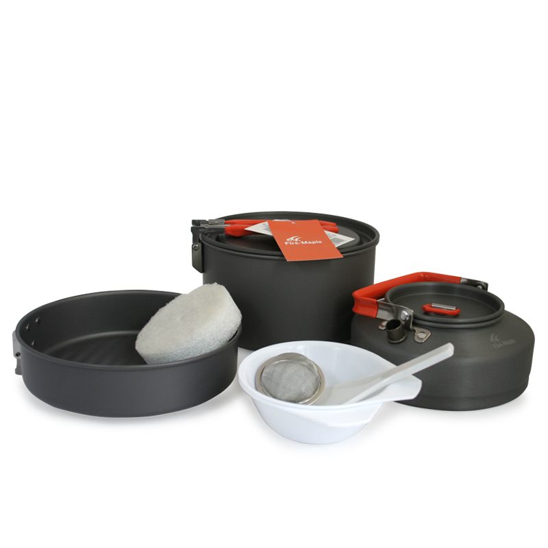 Гаджет  Fire-Maple portable outdoor camping 2-3 feast 2 camping cookware set picnic tableware Camping Cookware None Мебель