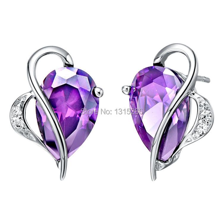 Heart Earrings Studs Earring Shining Heart Shape