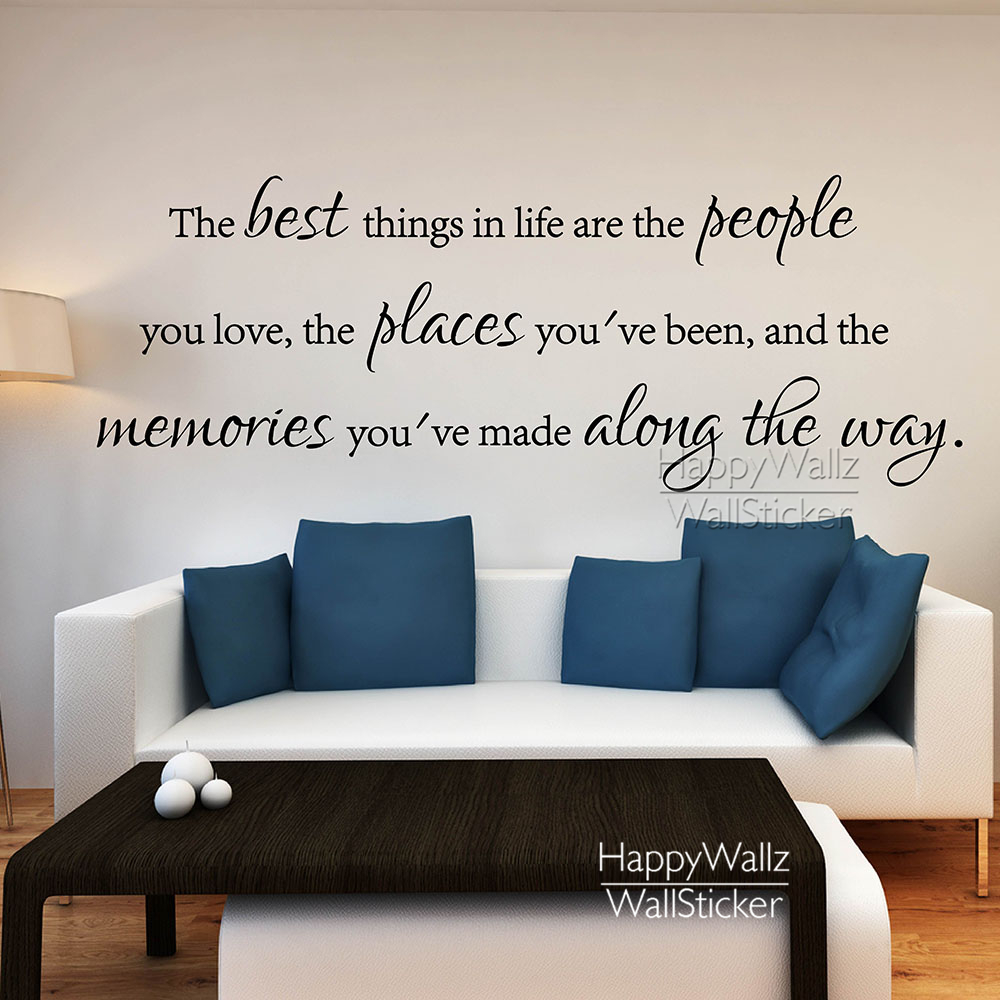 life quote wall decal the best things in life quote wall quote wall stickers of cherish your life vinyl wall