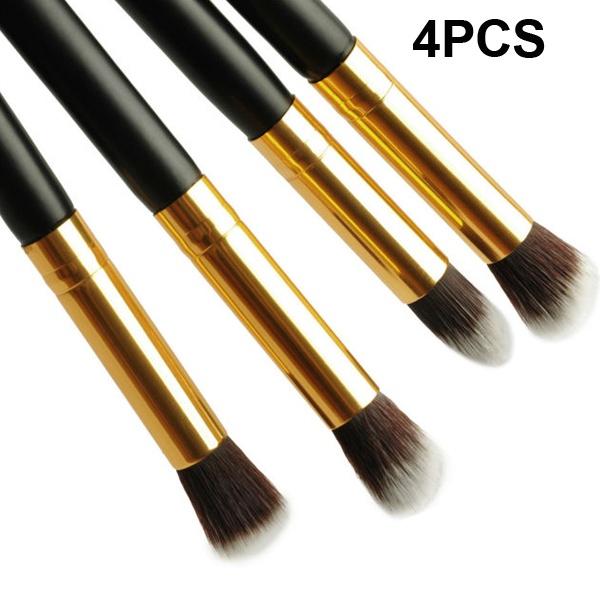 2015 Fashion 1Set/4pcs Professional Mascara Makeup Brush Set Kit Foundation Eyeshadow Eye Brushes Cosmetic Tools Free Shipping(China (Mainland))
