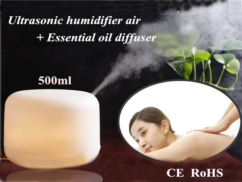 2015 Aromatherapy humidifier ultrasonic led lamp 500ml foggy oxygen bar skincare Air Conditioning Appliances (JS001)(China (Mainland))