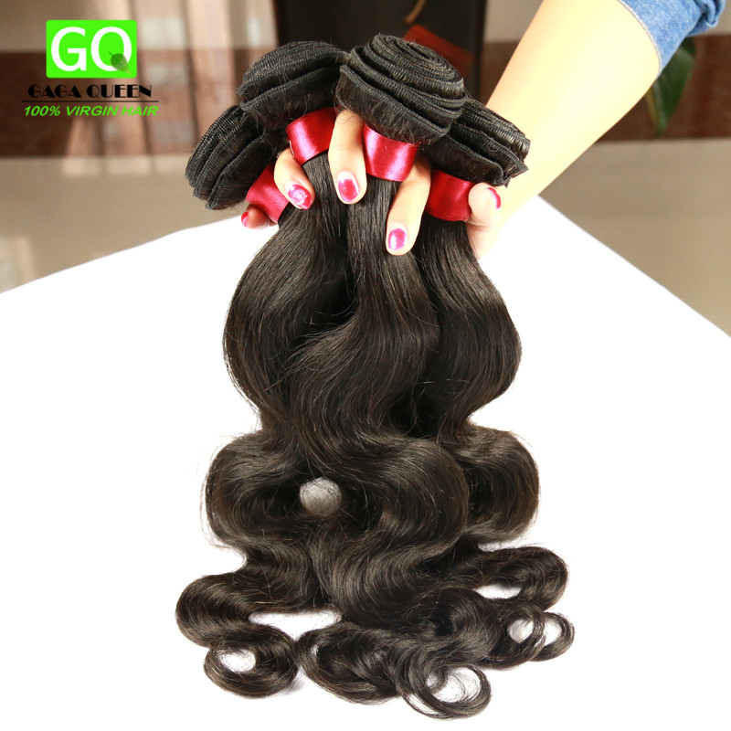6A Grade Russian Virgin Hair Body Wave Hot Beauty Russian Human Hair Weaves Body Wavy Hair Extension 3Pcs  Natural Black Color