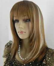 peruca hair queen cosplay 2012 Hot! Short blonde hair and brown wig fast ship (D Special discount 35%)(China (Mainland))