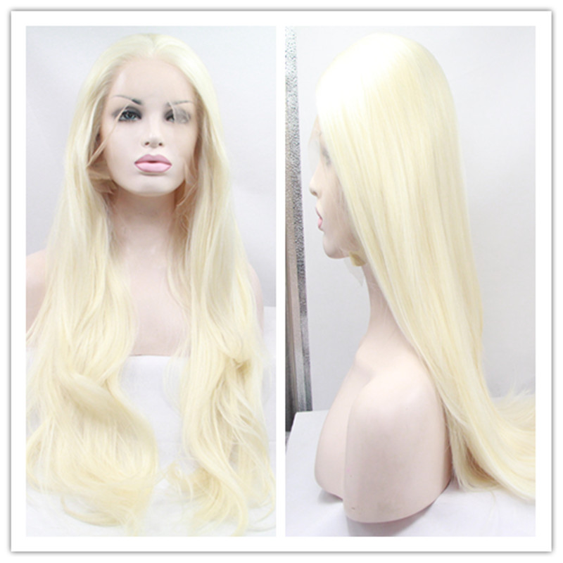 Free Shipping Top Quality Heat Resistant Lace front Wigs Blonde Long Loose Curl Synthetic Lace Front Wigs for Black Women(China (Mainland))