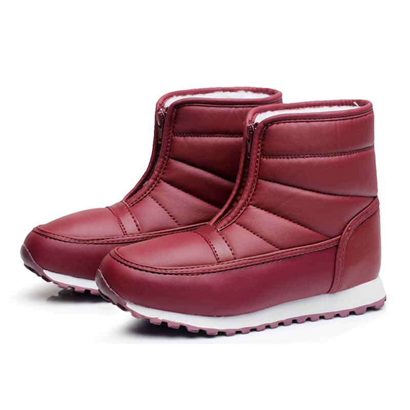 2016 Fashion Winter Waterproof Snow Boots For Women And Men Winter Boot Warm Cotton Fabric Inside Mid-calf Unisex Boot Shoes(China (Mainland))