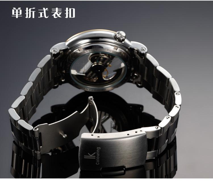 Лучшие автоматические механические мужские известный бренд стальной ленты мужские мужской водонепроницаемые часы роскошный мужчина Из Нержавеющей Браслет Золотые часы