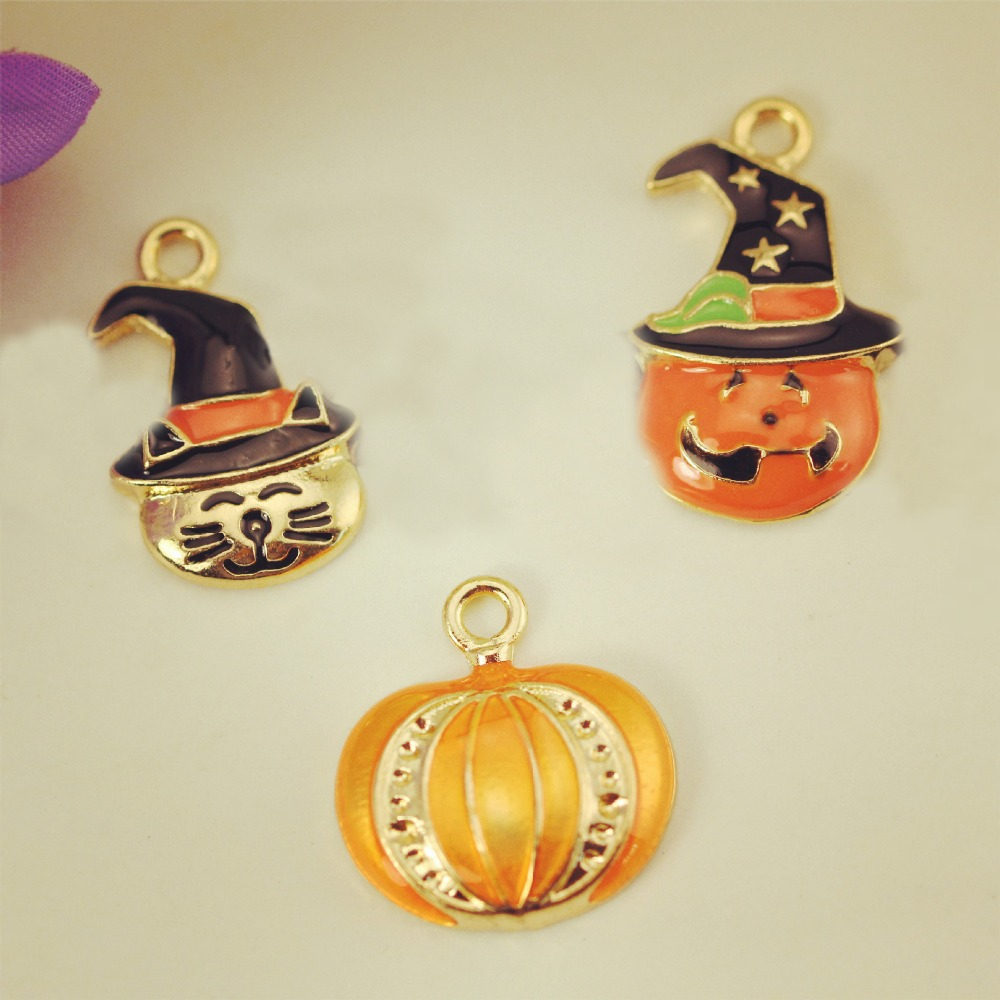 10pcs Halloween ghosts floating Enamel Charms Alloy Pendant fit for necklaces bracelets DIY Female Fashion Jewelry Accessories(China (Mainland))