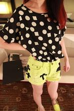 Plus Size New Fashion 2014 Summer Women Print Chiffon Shirt Vintage Birds and19 Styles Batwing Sleeve