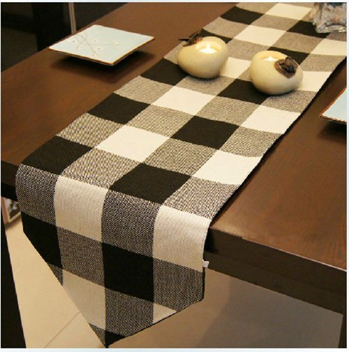 wholesale black and white table runner/christmas table runner/black and white damask table runners(China (Mainland))