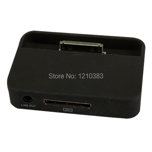 High Quailty Black Charger Sync Dock Cradle for Apple iPhone 4G 4S Docking Stand Station TH88 ES88(China (Mainland))