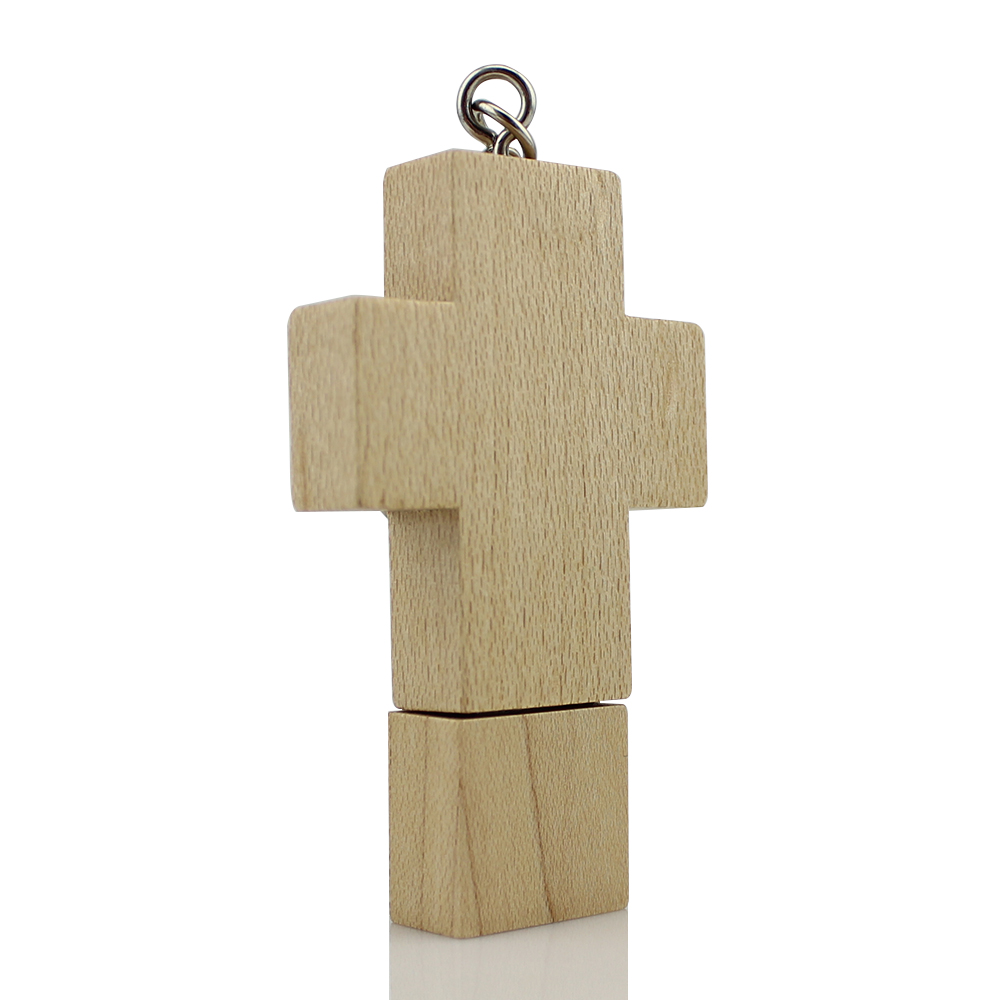 NEW Hot Sale Wooden Cross Shape Flash Drive Pen Drive USB 2.0 Memory Stick 8GB 16GB 32GB 64GB for Retail(China (Mainland))